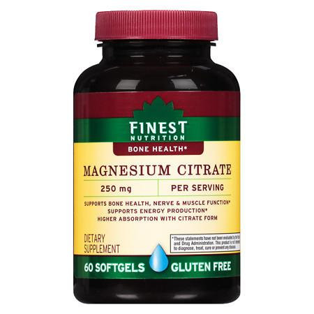 Finest Nutrition Magnesium Citrate 250 mg Softgels - 60 ea