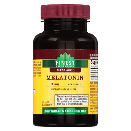 Finest Nutrition Melatonin 3 mg Tablets - 240 ea