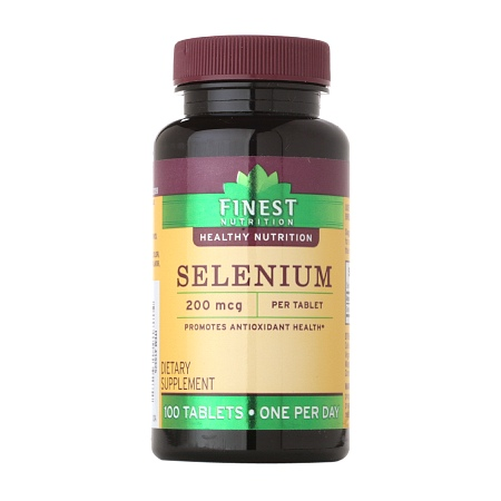 Finest Nutrition Selenium 200 MCG Tablets - 100 ea