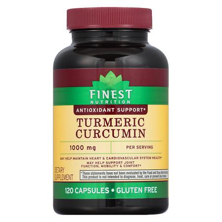 Finest Nutrition Turmeric 500 mg Capsules - 120 ea