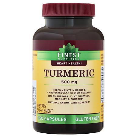 Finest Nutrition Turmeric 500mg, Capsules - 150 ea