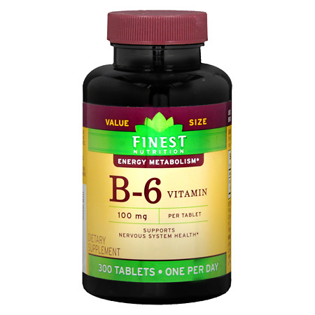 Finest Nutrition Vitamin B6 100mg, Tablets - 300 ea