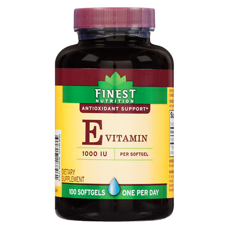 Finest Nutrition Vitamin E 1000 IU Softgels - 100 ea