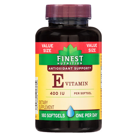 Finest Nutrition Vitamin E 400 IU Softgels - 180 ea