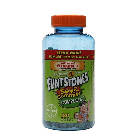 Flintstones Sour Gummies Complete - 180 ea