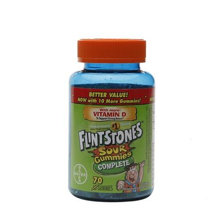 Flintstones Sour Gummies Complete - 70 ea