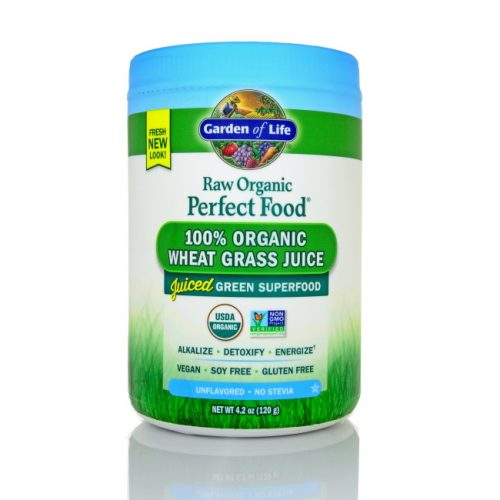 Garden of Life Perfect Food RAW Wheat Grass Juice, 120g