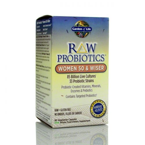 Garden of Life RAW Probiotics Women 50 and Wiser, 90 ct