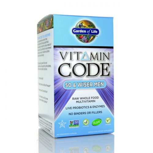 Garden of Life Vitamin Code 50 and Wiser Men's Formula, 240 ct