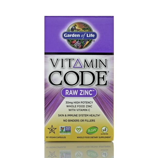 Garden of Life Vitamin Code RAW Zinc, 60 count