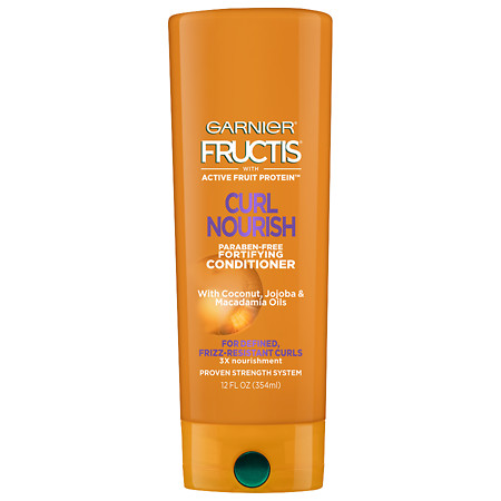 Garnier Fructis Curl Nourish Fortifying Conditioner, For Defined, Frizz- Resistant Curl - 12 oz.
