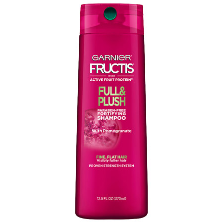 Garnier Fructis Full & Plush Fortifying Shampoo for Fine and Flat Hair - 12.5 oz.