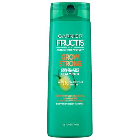 Garnier Fructis Grow Strong Shampoo, For Stronger, Healthier, Shinier Hair - 12.5 oz.