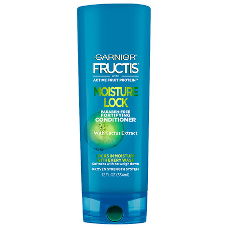 Garnier Fructis Moisture Lock Conditioner, Normal to Dry Hair - 12 oz.