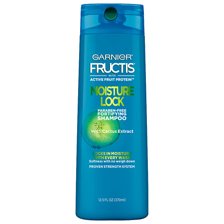 Garnier Fructis Moisture Lock Shampoo, Normal to Dry Hair - 12.5 oz.