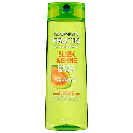 Garnier Fructis Sleek & Shine Shampoo, Frizzy, Dry, Unmanageable Hair - 12.5 oz.
