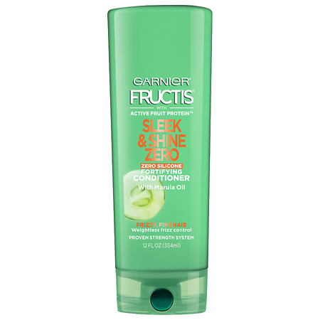 Garnier Fructis Sleek & Shine Zero Conditioner, For Frizzy, Fine Hair - 12 oz.