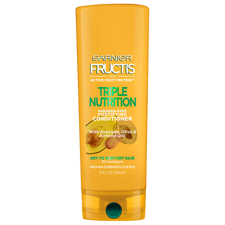 Garnier Fructis Triple Nutrition Conditioner, Dry to Very Dry Hair - 12 oz.