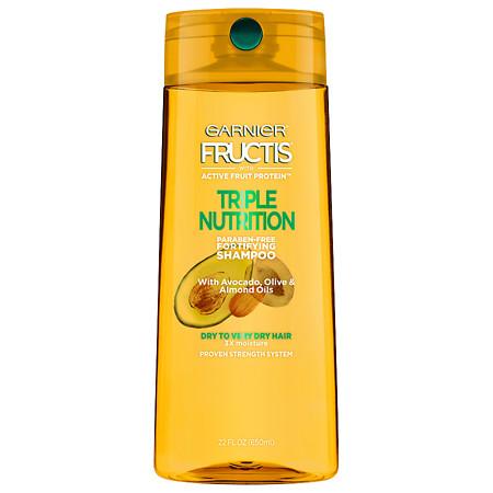 Garnier Fructis Triple Nutrition Shampoo, Dry to Very Dry Hair - 22 oz.