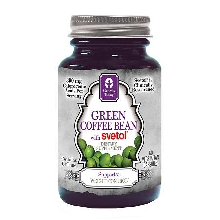 Genesis Today Green Coffee Bean with Svetol, Veggie Capsules - 60 ea