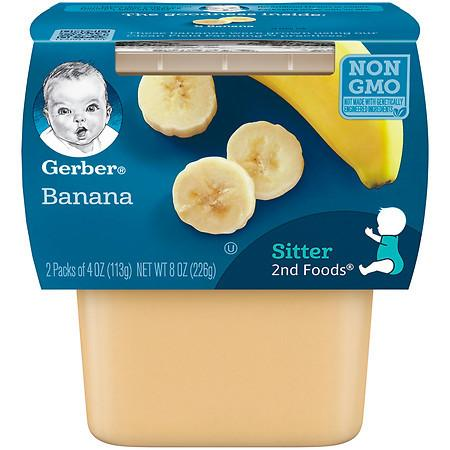 Gerber 2F Puree Tub Bananas - 4 oz.