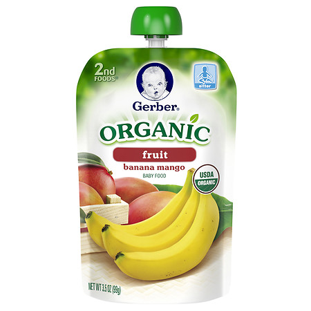 Gerber 2nd Foods Organic Baby Food Pouch Banana Mango - 3.5 oz.