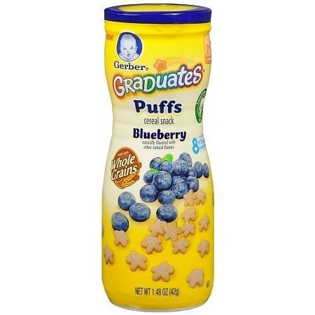 Gerber Graduates Puffs Cereal Snack Blueberry - 1.48 oz.