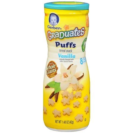 Gerber Graduates Puffs Cereal Snack Vanilla - 1.48 oz.