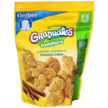Gerber Graduates for Toddlers Animal Crackers Cinnamon Graham - 6 oz.