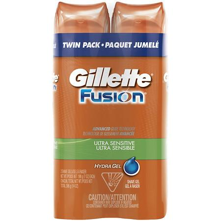 Gillette Fusion Hydro Shave Gel Ultra Sensitive - 7 oz.