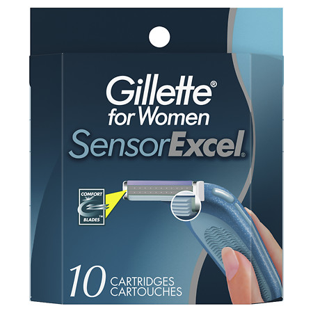 Gillette Sensor for Women Excel Razor Refill Cartridges - 10 ea