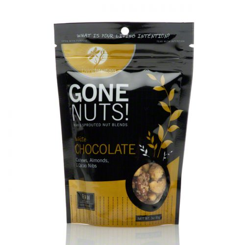 Gone Nuts! White Chocolate Chip Cashews, Almonds and Cacao Nibs, 3 oz