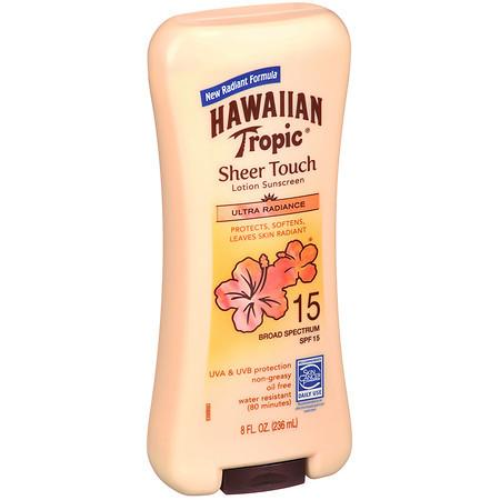 Hawaiian Tropic Sheer Touch Lotion Sunscreen, SPF 15 - 8 fl oz