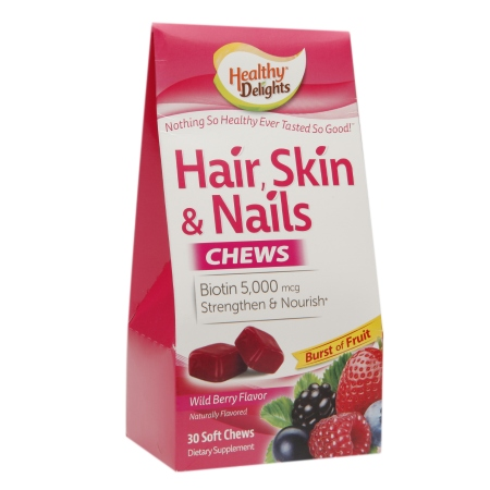 Healthy Delights Hair, Skin & Nails Chews Berry - 30 ea