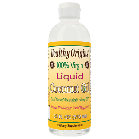 Healthy Origins 100% Virgin Liquid Coconut Oil - 20 fl oz