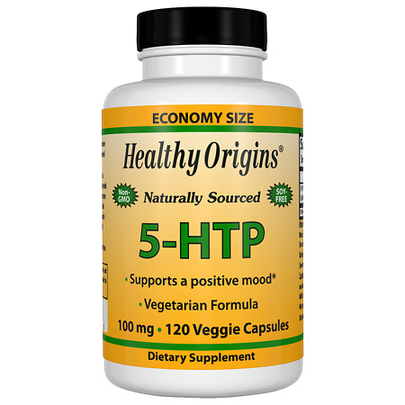 Healthy Origins 5-HTP 100 mg Capsules - 120 ea