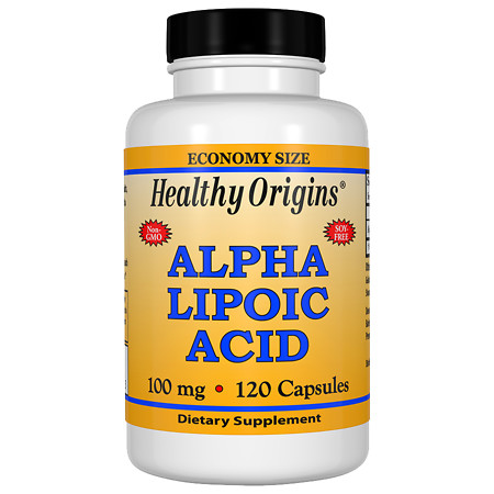 Healthy Origins Alpha Lipoic Acid 100 mg, Capsules - 120 ea
