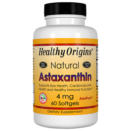 Healthy Origins Astaxanthin 4mg, Softgels - 60 ea