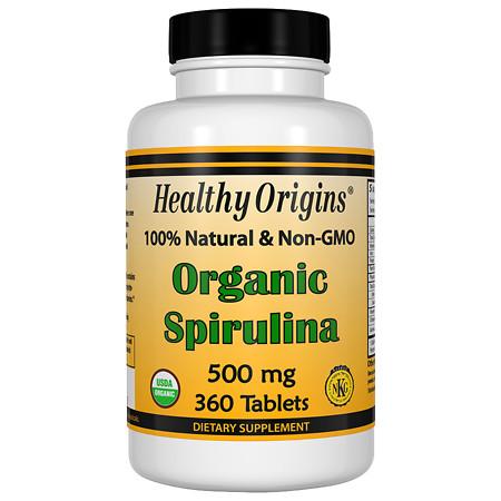 Healthy Origins Organic Spirulina 500mg, Tablets - 360 ea