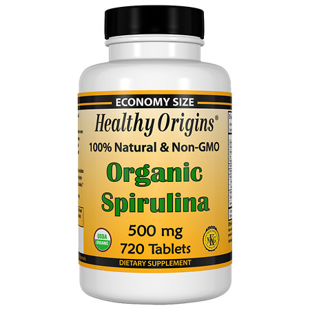 Healthy Origins Organic Spirulina 500mg, Tablets - 720 ea