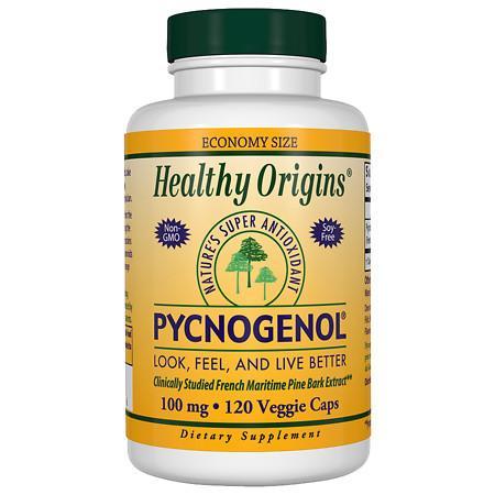 Healthy Origins Pycnogenol 100mg, Veggie Capsules - 120 ea