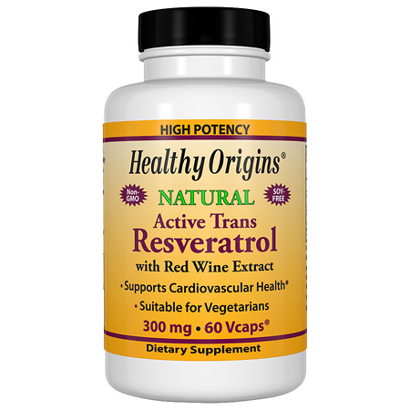 Healthy Origins Resveratrol 300mg, Vegetable Capsules - 60 ea