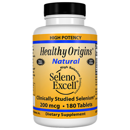 Healthy Origins Seleno Excell 200mcg, Tablets - 180 ea