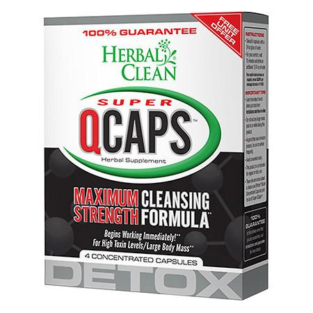 Herbal Clean Super QCaps, Extra Strength Cleansing Capsules - 4 ea