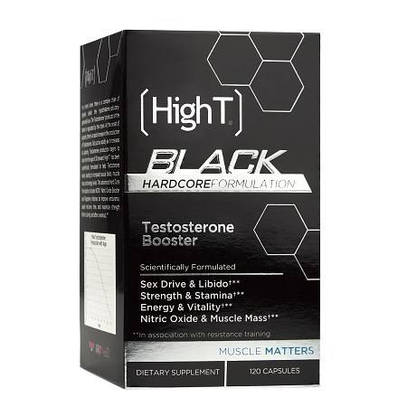 HighT Black Hardocre Testosterone Booster, Capsules - 120 ea