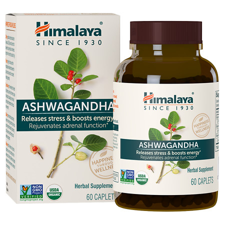 Himalaya Herbal Healthcare Ashwagandha, Anti-Stress & Energy, Caplets - 60 ea