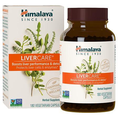 Himalaya Herbal Healthcare LiverCare, Vegetarian Capsules - 180 ea