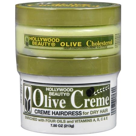 Hollywood Beauty Olive Cholesterol & Olive Creme - 7.5 oz.
