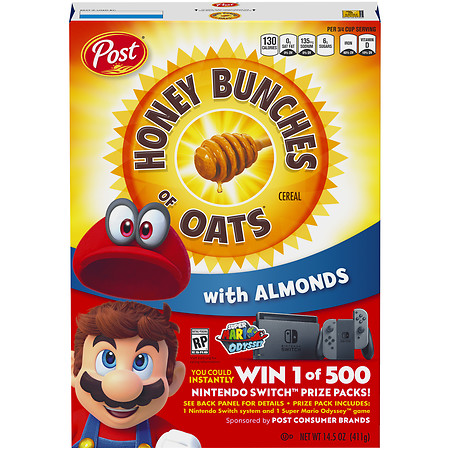 Honey Bunches of Oats Cereal with Almonds - 14.5 oz.