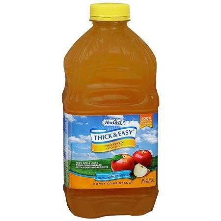 Hormel Thick & Easy Thickened Apple Juice Honey Consistency - 48 oz.